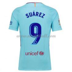 0644ff03 Billige Fotballdrakter Barcelona 2017-18 Luis Suarez 9 Bortedrakt Kortermet