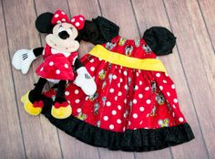 Mickey and Friends Stripwork Peasant Dress by TwinspiredDesign, $40.00