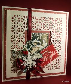 To create the frame using a striplet die, cut a square card 17x17cm. Then go in 3mm on each side and draw a line. Lay interior die on edge of line. More Traditional Colours... - John Next Door