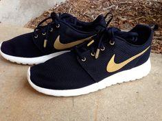 Nike Roshe Gold by KickCustoms on Etsy More