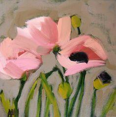 pink poppies flower print by angela moulton 6 x 6 inches prattcreekart floral art print poppy