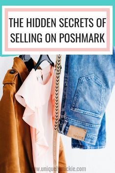 Want to make money by selling your old clothes and shoes online? Get started today with the Poshmark app! I'll show you exactly how to make money selling your old clothes. You can easily make thousands of dollars selling your old clothes. Source by Online Sales, Selling Online, Selling On Ebay, Way To Make Money, Make Money Online, How To Sell Clothes, Sell Your Clothes Online, Sell Your Stuff, Things To Sell