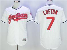 1f50dca80 Cleveland Indians  7 Kenny Lofton White Flex Base Jersey