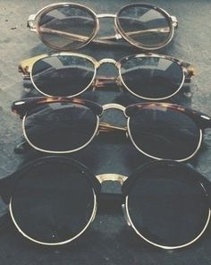 Clubmaster Ray Bans (2nd from bottom) have always been my dream to buy a pair for myself. I lovee the style