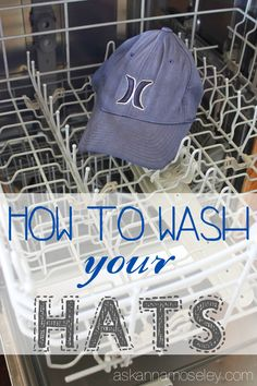 How to Wash a Hat ~ Baseball Caps