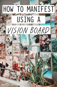 Vision Boards are excellent manifesting tools! Learn how to manifest using a vision board. vision board How To Manifest Using a Vision Board Vision Boarding, Beltane, Bullet Journal Vision Board, Diy Image, Goal Board, Creating A Vision Board, How To Manifest, Law Of Attraction, The Secret