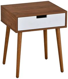 Looking for Light Walnut/White Side End Table Nighstand Drawer H ? Check out our picks for the Light Walnut/White Side End Table Nighstand Drawer H from the popular stores - all in one. Modern Bedroom Furniture, Mid Century Modern Furniture, Rustic Furniture, Midcentury Modern, Living Room Furniture, Home Furniture, Furniture Ideas, Furniture Cleaning, Apartment Furniture