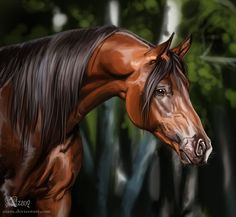 Horse #1 by Azany on DeviantArt, beautiful painting. Please also visit www.JustForYouPropheticArt.com for colorful, inspirational Prophetic art painting, prints and stories and like my Facebook Art Page at www.facebook.com/Propheticartjustforyou Thank you so much! Blessings!