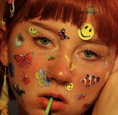 Face Aesthetic, Aesthetic People, Aesthetic Images, Aesthetic Makeup, Makeup Inspo, Makeup Inspiration, Tattoo Inspiration, Types Of Aesthetics, Face Stickers