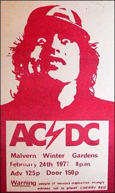 AC/DC Concert Poster