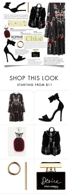 """""""Mind Game"""" by violet-peach ❤ liked on Polyvore featuring Yves Saint Laurent, Jennifer Fisher, Dolce&Gabbana and Chloé"""