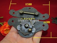 free shipping  super big size vintage jewelry box metal hasp wooden box latch with screws 5pcs/lot 82x65mm #men, #hats, #watches, #belts, #fashion, #style, #sport