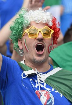 #EURO2016 An Italy supporter enjoys the atmosphere prior to the UEFA EURO 2016 round of 16 match between Italy and Spain at Stade de France on June 27 2016 in...
