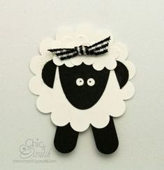 SU punches used to make this adorable lamb!