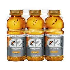 Gatorade G2 Sports Drink, Orange, Low Calorie, 20-Ounce Bottles (Pack Of 24) (53 LTL) found on Polyvore