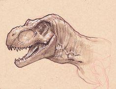 T-Rex head study by *StephaneRoux on deviantART