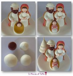If you would like to be an expert at cake decorating, then you'll require practice and training. As soon as you've mastered cake decorating, you might become famous from the cake manufacturing business. Clay Christmas Decorations, Christmas Cake Designs, Polymer Clay Christmas, Xmas Ornaments, Christmas Projects, Creative Cake Decorating, Cake Decorating Supplies, Cake Decorating Techniques, Nativity Crafts