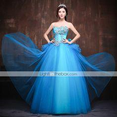 Dress Ball Gown Sweetheart Floor-length Satin/Tulle/Polyester Dress 2015 – $179.99