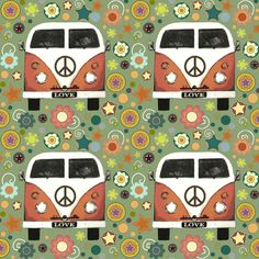 peace camper fabric by scrummy for sale on Spoonflower - custom fabric, wallpaper and wall decals