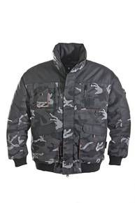 Pilotenjacke in grau/camouflage