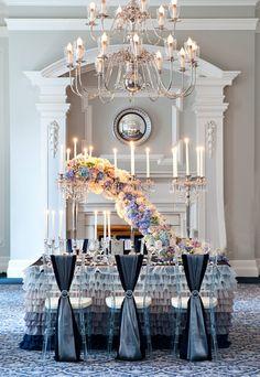 Interesting, but kind of looks like a caterpillar to me #centerpiece #flowers #wedding @Mandy Bryant Dewey Seasons Bridal