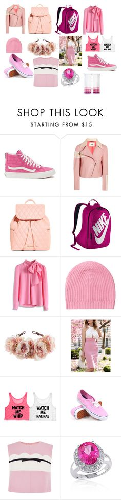 """Pink and White"" by tamarabeautyx ❤ liked on Polyvore featuring Vans, Fendi, Vera Bradley, NIKE, Chicwish, White + Warren, Rock 'N Rose, Giambattista Valli and Belk & Co."