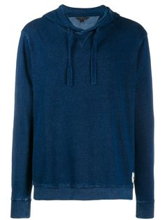 Dark blue cotton loose-fit hoodie from John Varvatos Star Usa featuring a hood with drawstring tie fastenings, long sleeves, a logo patch to the side, a loose fit and a ribbed hem and cuffs. Burberry Men, Gucci Men, Tom Ford Men, Calvin Klein Men, John Varvatos, Loose Fit, Size Clothing, Loafers Men, Women Wear