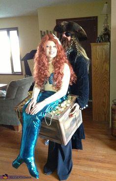 Mermaid in Pirate's Treasure Chest - 2012 Halloween Costume Contest
