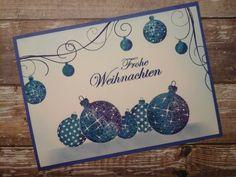 SF Stamps Frohe Weihnachten, Karte von Silke Klein gestaltet. #SFStampsFroheWeihnachten #SFStamps #SFStampsIdeen #ScrapbookForever #Weihnachtskugeln #Christbaumkugeln