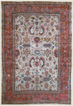Tapis Mahal Perse - Iran c.1900 405 x 280 cm  I Galerie Deroyan