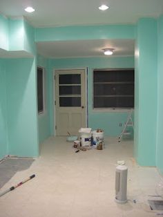 "Tulane Rehab: October 2008 - kitchen color is Sherwin Williams ""aquatint"""