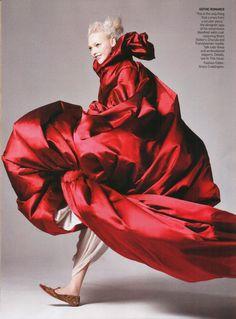 Sasha Pivovarova in Alexander McQueen by David Sims for Vogue