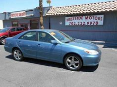2004 Toyota Camry LE V6 4-Door Sedan  http://www.westsidemotorslv.com/  Stock Number: 574279 Transmission: Automatic Fuel: Gasoline Exterior Color: Blue Engine: V6 3L Mileage: 51,218 Title: Clear VIN: 4T1BF32K84U574279 Drivetrain: Front Wheel Drive Interior Color: Gray  Key Features: Power Windows Anti-Lock Brakes Power Door Locks Keyless Entry System Power Steering Cruise Control  Contact Info: (702) 222-9970 Westside Motors 3360 S Decater Las Vegas, NV ...