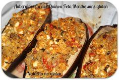 Je vous propose une recette d'un plat complet à l'index glycémique bas: les aubergines farcies quinoa et feta sans gluten.