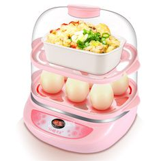 Y-ZDQ3 220 v Multifunctional Double Egg Automatic Boiling Hot Boiler Mini Egg Steam Cooked Egg Machine Egg Whipping Device 300W