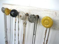 Knob necklace holder - Click image to find more DIY & Crafts Pinterest pins