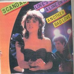 Patti Smyth and Scandal wearing my butterfly cuff on her record album. The people we tried to get to sing our songs were now wearing my jewelry. Isn't it ironic.