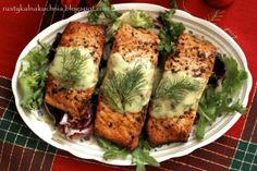 rustic kitchen - cooking at home: Salmon with dill sauce Dill Sauce For Salmon, Cook At Home, Rustic Kitchen, Avocado Toast, Quiche, Nom Nom, Main Dishes, Cooking, Breakfast