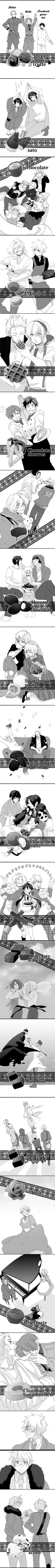 Tags: Anime, Chocolate, Axis Powers: Hetalia, Taiwan, Japan, Liechtenstein, Switzerland