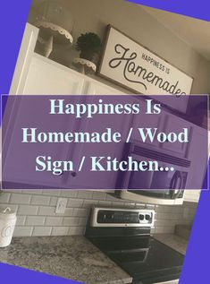 Go Green With Your Kitchen Remodeling Project #Happiness #Homemade #Wood #Sign #Kitchen #Sign #Homemade #Farmhouse #Sign #Wall #Decor #Living... Cheap Kitchen Remodel, Kitchen Remodeling, Homemade Wood Signs, Kitchen Signs, Farmhouse Signs, Wall Signs, Wall Decor, Happiness, Green