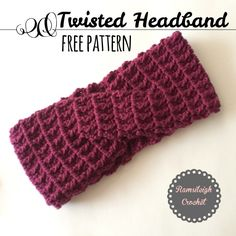 Crochet Headbands Twisted Headband {Free Pattern} - Are you good with a need? Can you whip up a scarf with ease or crochet a blanket in no time? Well, if you have a little bundle of joy on the way, you may Bandeau Crochet, Crochet Headband Free, Crochet Beanie, Crochet Yarn, Free Crochet, Knit Headband, Crocheted Hats, Crochet Hair Accessories, Crochet Hair Styles