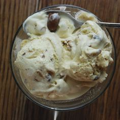Maple Ice Cream with Tipsy Raisins and Maple-Candied Cashews recipe on ...