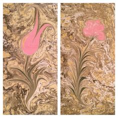 Collage of Ebru paintings