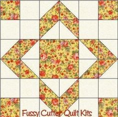 Scrappy Fabric Patchwork Aunts Choice Fast Easy Pre-Cut Quilt Blocks Top Kit