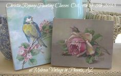 Christie Repasy Rose painting class Oct. 4th & 5th 2013, at Melrose Vintage in Phoenix, AZ.