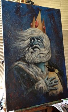 THIS PORTRAIT OF ADVENTURE TIME'S ICE KING AND GUNTER by artist James Hance IS EMOTIONAL
