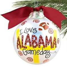 Alabama Crimson Tide Christmas Ornaments