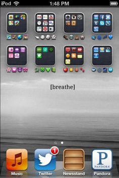 How I organized my ipod apps into folders using emojis and color coordinating everything.