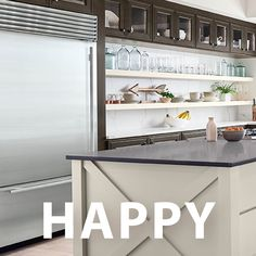 Happy New Year! Here's to 2019 being the best year yet. Enjoy the view from this incredible kitchen with the jaw dropping combination of 530 Painted Harbor and 760 Cherry Slate cabinets.  #waypointlivingspaces #kitchencabinets Cherry Cabinets, Cabinet Doors, Slate, Living Spaces, Kitchen Cabinets, Happy, Table, House, Furniture