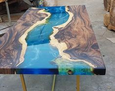 Epoxy resin transparent coffee table handcrafted custom 3d | Etsy